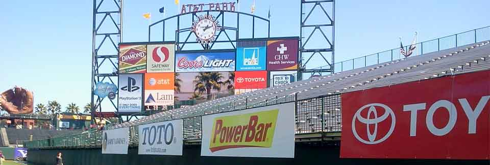 Pacific Color signs at AT&T park