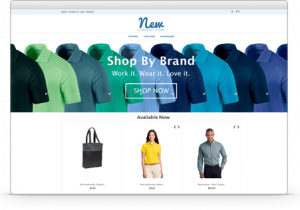 company merchandise online software demo